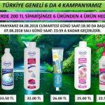Ersağ Türkiye Ağustos 6 da 4 Kampanyası