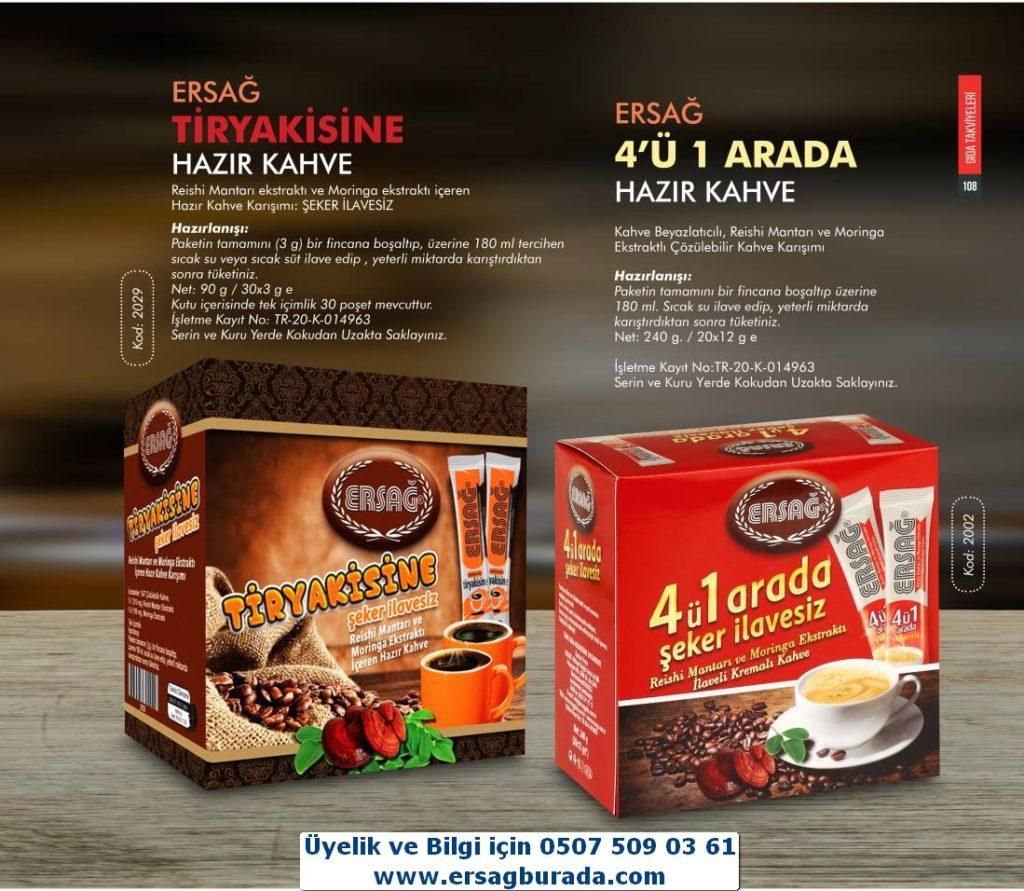 4ü Bir Arada Hazır Kahve (Ürün Kodu: 2002) Satış Fiyatı: 66,95₺ /-/ Üye Fiyatı: 53,56₺ --- Tiryakisine Hazır Kahve (Ürün Kodu: 2029) Satış Fiyatı: 66,95₺ /-/ Üye Fiyatı: 53,56₺